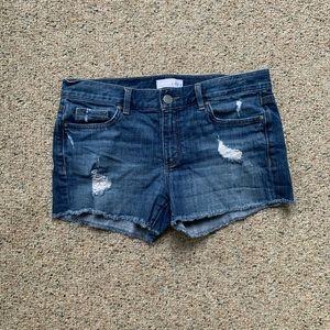 Loft distressed denim shorts
